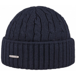 Georgia cap wool Stetson navy