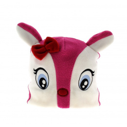 Bonnet fantaisie lapin rose