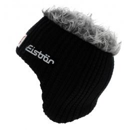 Gisbert Black Wool Earmuff Beanie - Eisbär