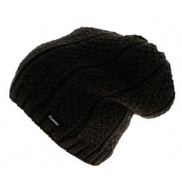 Bonnet basic oversize marron