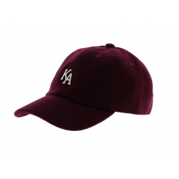 Letterman Curved Peak Cap - KING APPAREL
