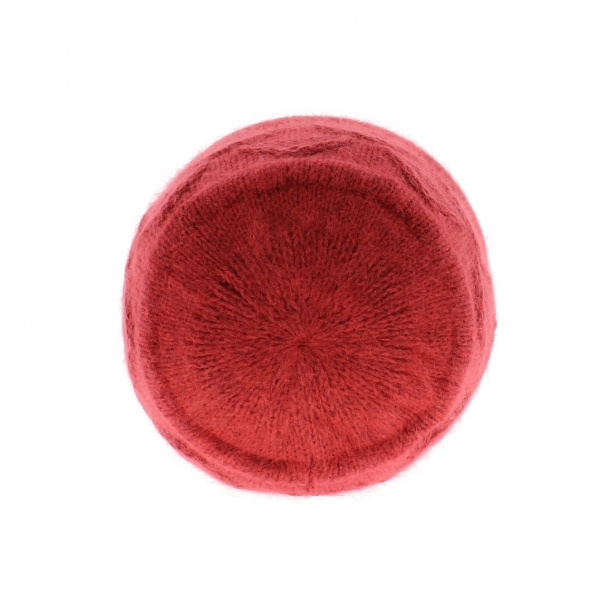 Beret Bonnet Funny angora Fuchsia