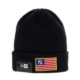Bonnet MLB Flag Knit Neyya New Era Bleu Marine