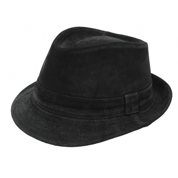 Trilby hat leather