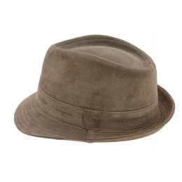 Chapeau Trilby Cuir beige - Traclet