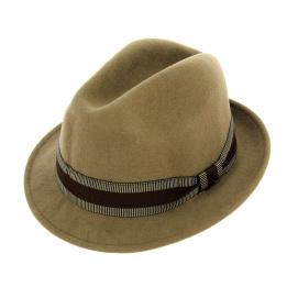 Chapeau trilby Jazzy Feutre laine beige- Aussie Apparel