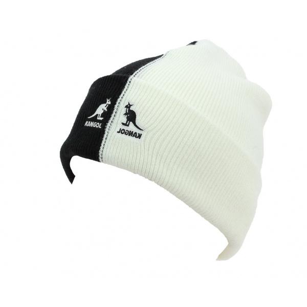 400618f886b Bonnet 2Tone Noir   Blanc Acrylique - Kangol - Chapeau Traclet