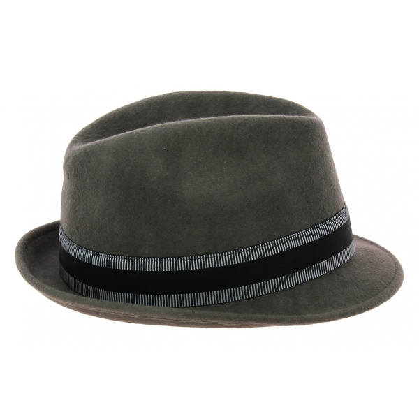 Chapeau trilby Jazzy Feutre laine gris- Aussie Apparel