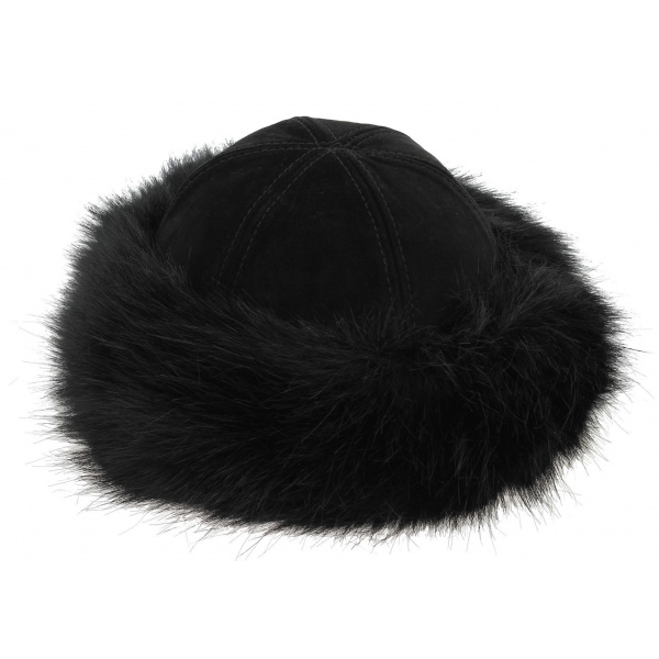 Oxana Women's Toque Black Leather - Traclet