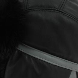 Chapka Cuir & Lapin Yukon Noir - Gena