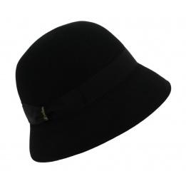 Chapeau Cloche Feutre Poils Noir - Borsalino