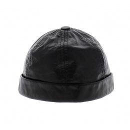 Bonnet Harley cuir noir - Bullet style Seven Jocker