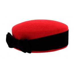 Chapeau Carla Bruni feutre laine / velours