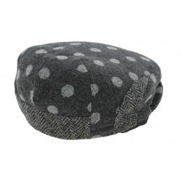 Flat Cap Troon Wool Anthracite - Mtm