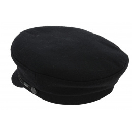 Cancale Wool Navy Cap - Black - Traclet