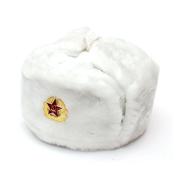 Chapka Ushanka époque URSS blanche 6435bd22c7a