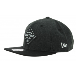 Casquette Snapback Heather Coop Laine Noir - New Era