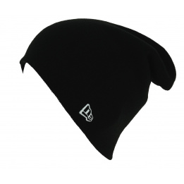 Essential Knit Acrylic Black Mixed Long Cap - New Era