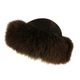 Ivanna LEATHER & Fox Toque Brown - TRACLET