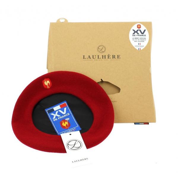 Béret rouge officiel XV de France Coq brodé - Laulhère