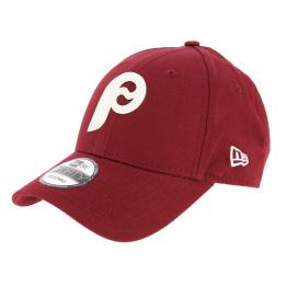 Philadelphia Strapback Flock Logo Red Cap - New Era