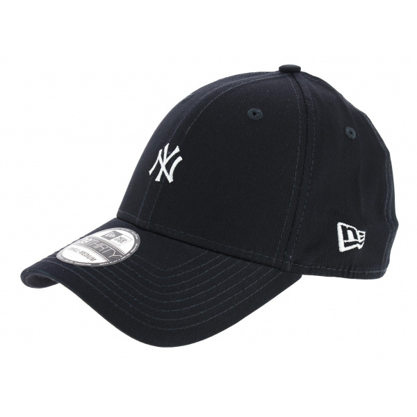 Fitted Yankees Mini Logo Navy Cotton Cap - New Era