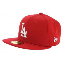 Cap Fitted Basics LA Dodgers Red Wool - New Era