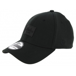 Baseball Cap Fitted Patched Tone Black - New Era