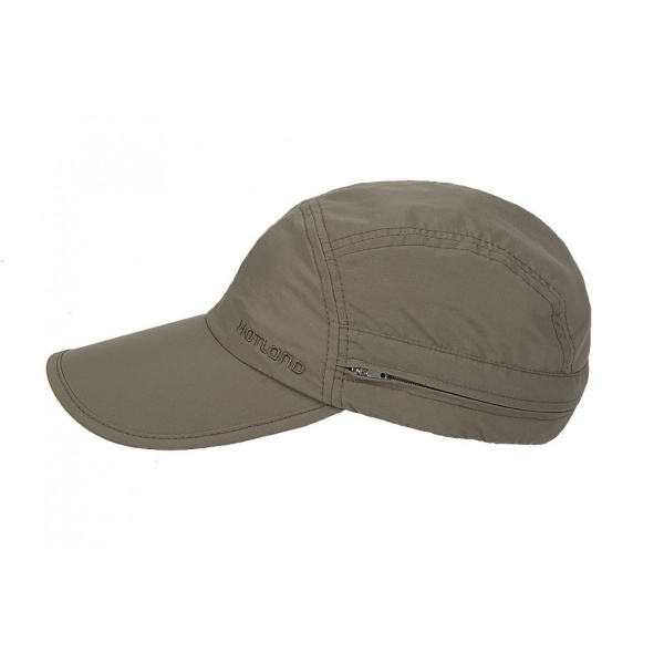 Janou UPF50+ cap with khaki neck cover - Hatland