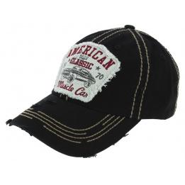 Strapback American Classic Black Cotton Cap