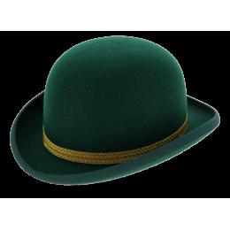 Melon hat Felt Wool Green Trimming - Traclet