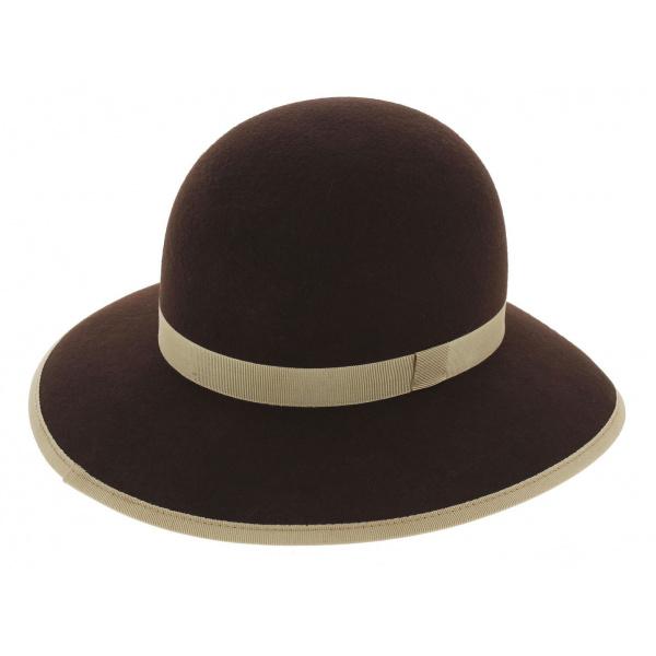 Chapeau capeline Audrey Feutre Laine - Traclet