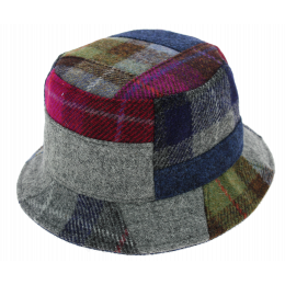 Chapeau Bob Banbridge Patchwork Harris Tweed - Traclet