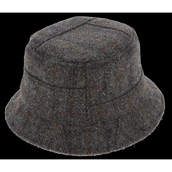 Chapeau Bob Tweed Glasgow Gris - Traclet