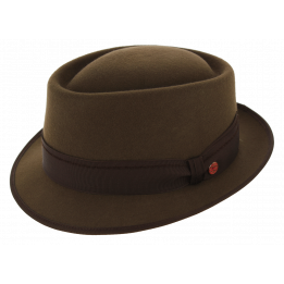 Trilby Rostock Brown Wool Felt Hat - Mayser