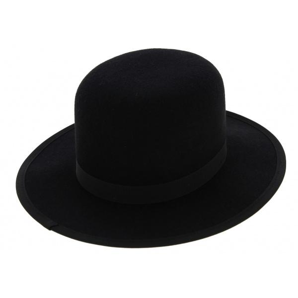 MiddleWest Black Wool Felt Hat - Traclet