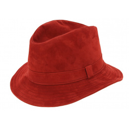 Chapeau Traveller Renna Cuir Rouge - Traclet