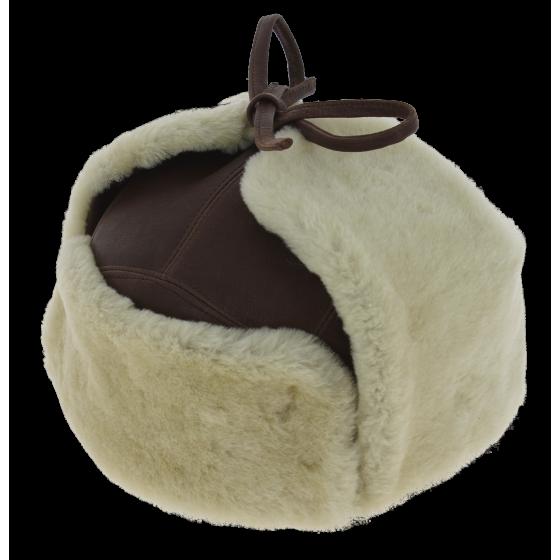 Chapka Cuir & Mouton Andventurer Marron - Traclet