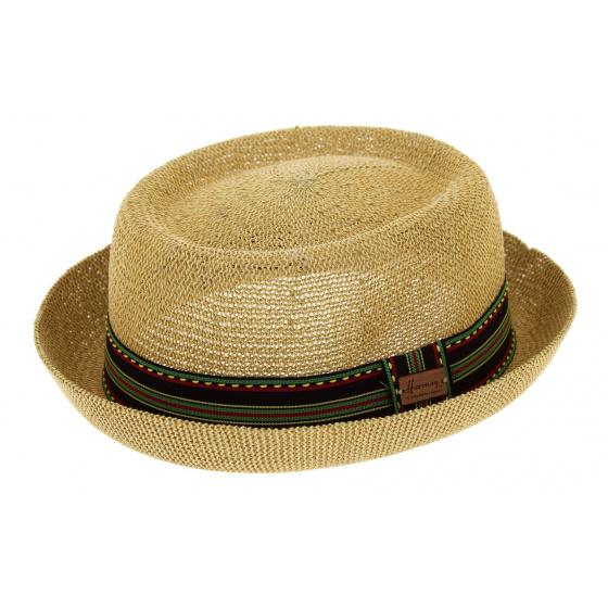 PorkPie Don Gringo Natural Paper Straw Hat - Herman Headwear