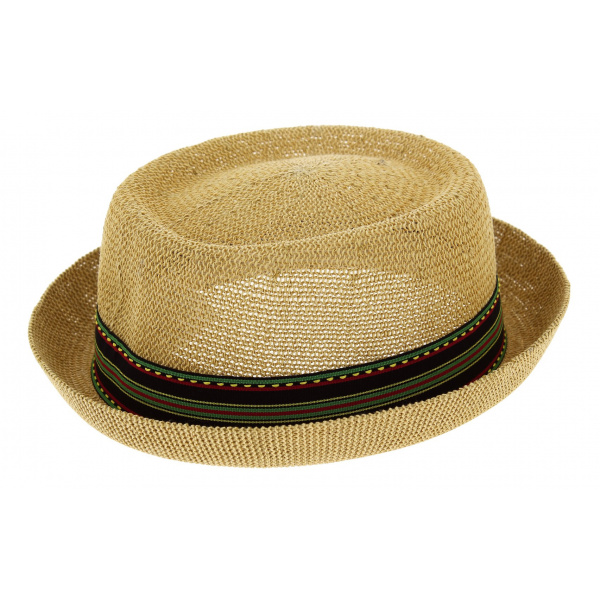 PorkPie Don Gringo Straw Hat Natural Paper - Herman Headwear