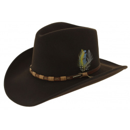 Chapeau Cow Boy - KEELINE Marron