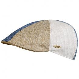 Beige patchwork cap