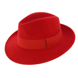 Fedora Hats Wool Felt Vanador Red- Traclet