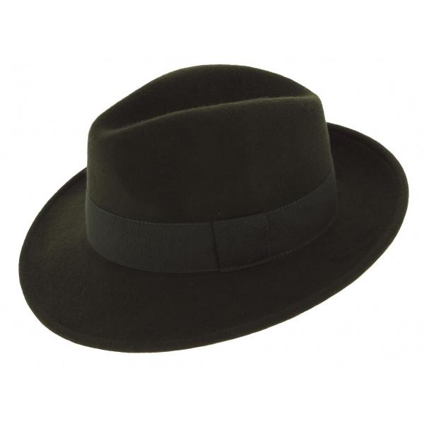Fedora Hat Felt Wool Waterproof Hat Vanador Olive - Traclet