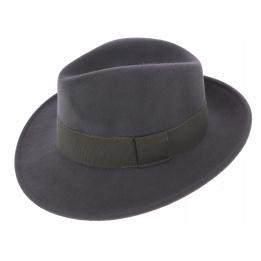 Fedora Hat Waterproof Felt Felt Wool Vanador Anthracite - Traclet