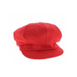 Casquette gavroche Lin  liberty rouge