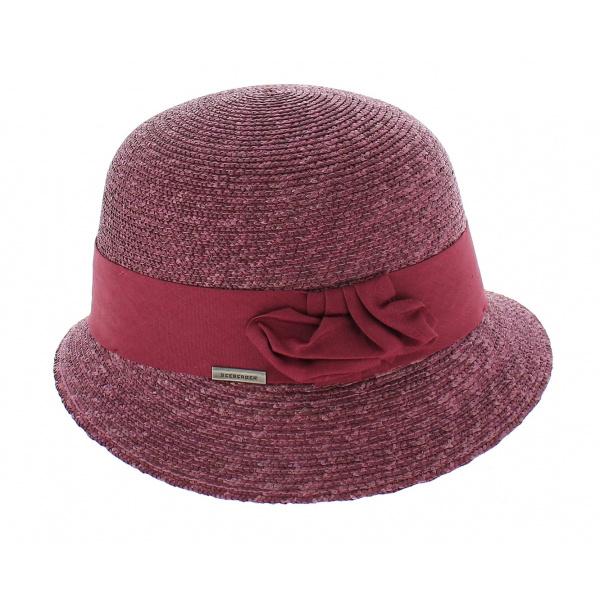 Chapeau cloche paille Winona - Violet