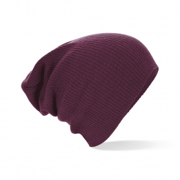 Bonnet grey mel bordeaux