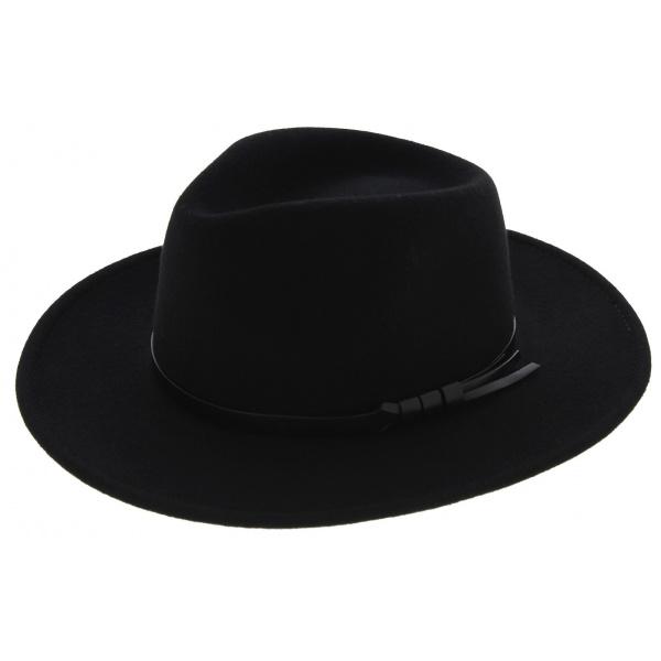 Traveller Toledo Felt Hat Waterproof Wool Black - Traclet