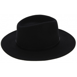 Traveller Toledo Felt Hat Waterproof Wool Black - Traclet
